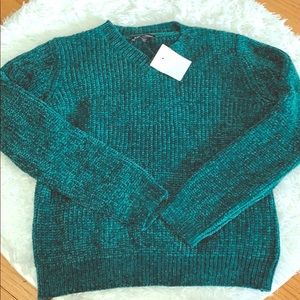 Freshman 1996 Girls' Soft Green Cable Knit Sweater
